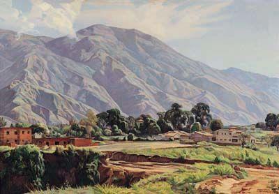 El Ávila desde Sabana Grande, 1946 Pedro Ángel González