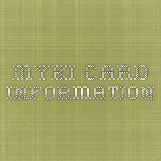 myki card information