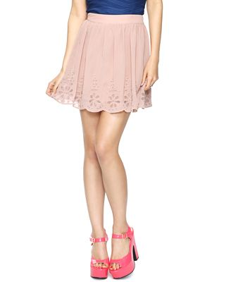 Scalloped Eyelet Skirt   #style #watchwigs www.youtube.com/wigs