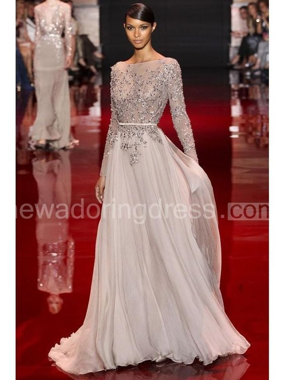 US$150.15-Elegant High Neck Long Sleeves Beaded Chiffon Evening Gown with Sleeves and Open Back. http://www.newadoringdress.com/a-line-princess-high-neck-long-sleeves-applique-floor-length-chiffon-dress-p314737.html. Shop for cheap prom dresses, white dress, plus size dress, little balck dress, evening gowns, casual dresses for sale, elegant dresses, party dresses for women, pageant dresses, dinner dresses. We have great 2016 evening gowns on sale. Buy Evening Gowns online at…