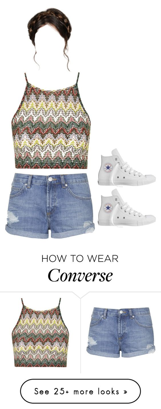 """""""Untitled #207"""" by princess-kk on Polyvore featuring Topshop and Converse"""