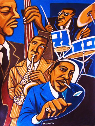 Charlie Parker Quartet Print Poster The Bird Max Roach Drums Bud Powell Piano   eBay