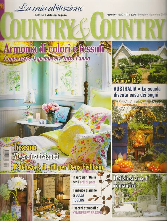 Bellas Rose Cottage: Country & Country Magazine!