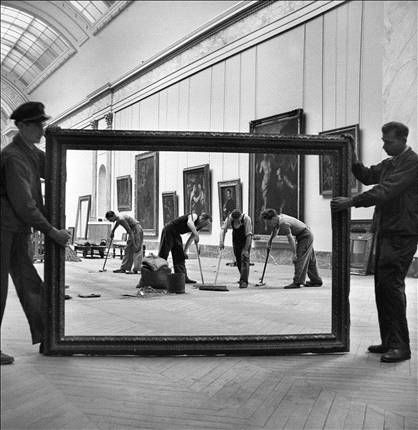 The Louvre during the Second World War.