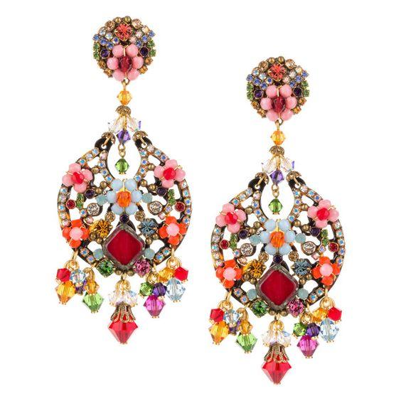 JJ Caprices - Colorful Drop Earrings by DUBLOS