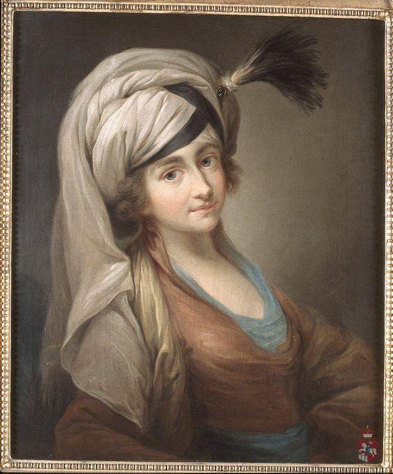 Portret kobiety w turbanie, nieokreślony malarz polski