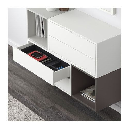 Eket Wall Mounted Cabinet Combination White Light Gray Dark Gray Length 27 Ikea Ikea Eket Eket Wall Mounted Cabinet