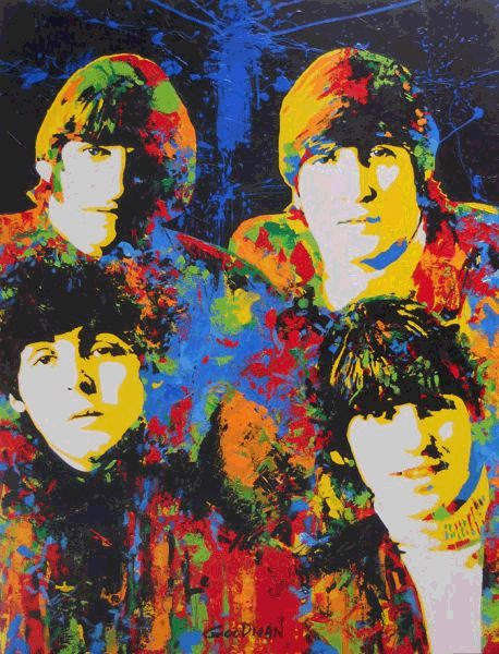 The Beatles painted by Mark Goodman