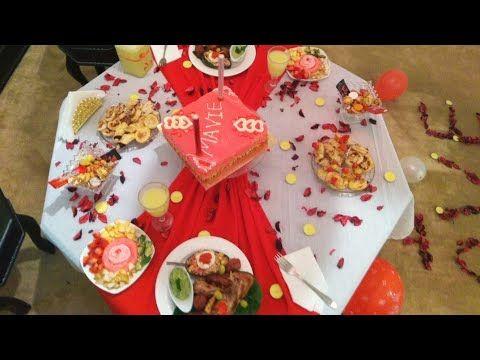عشاء رومانسي مفاجئة عيد ميلاد زوجي