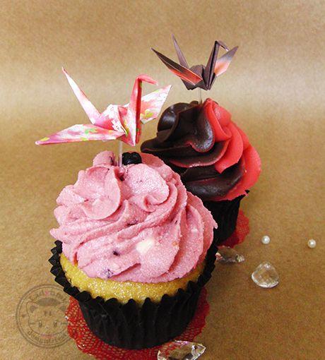 Cupcake Tsuru Origami