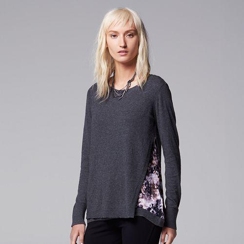 Women's Simply Vera Vera Wang Asymmetrical Mock-Layer Top