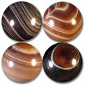 Chocolate Banded Agate Marble, AAA Grade