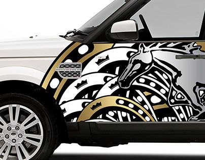 """Check out new work on my @Behance portfolio: """"Land Rover half wrap project"""" http://be.net/gallery/33253821/Land-Rover-half-wrap-project"""