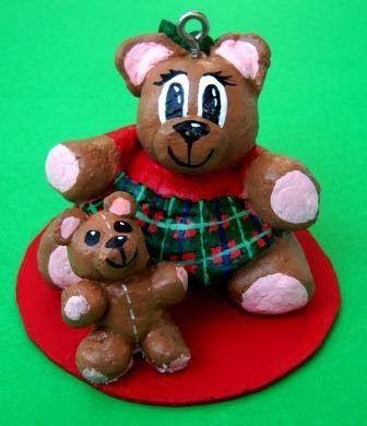 Bread Dough Bear Ornaments   Suzy's Artsy Craftsy Sitcom