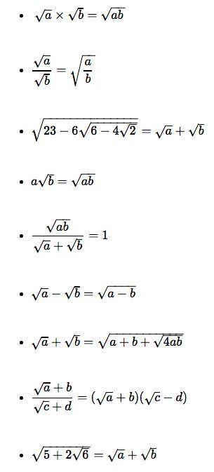 Surds From Nrich Cmep Propiedades Division Matematicas Avanzadas Formulas Matematicas Matematicas Discretas