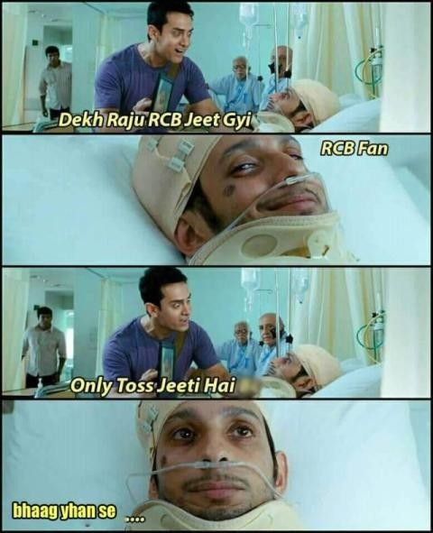 Funny Memes On Rcb After The Loss Masti Hub Funny Facts Very Funny Memes Latest Funny Jokes