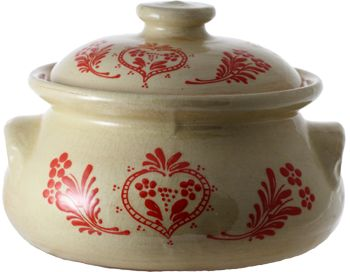 """Marmite à choucroute """"rouge"""" - poterie Soufflenheim, Alsace"""