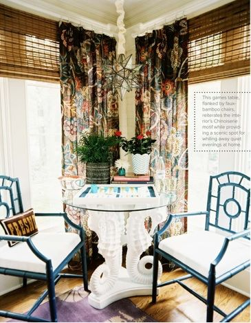 I would love this set up for my next dining purposes, so dramatic. SEAHORSES FOREVA