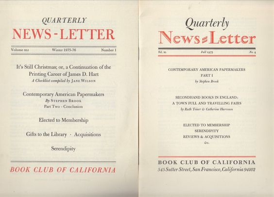 Book Club of California Quarterly News Aldus Manutius Printer Texas