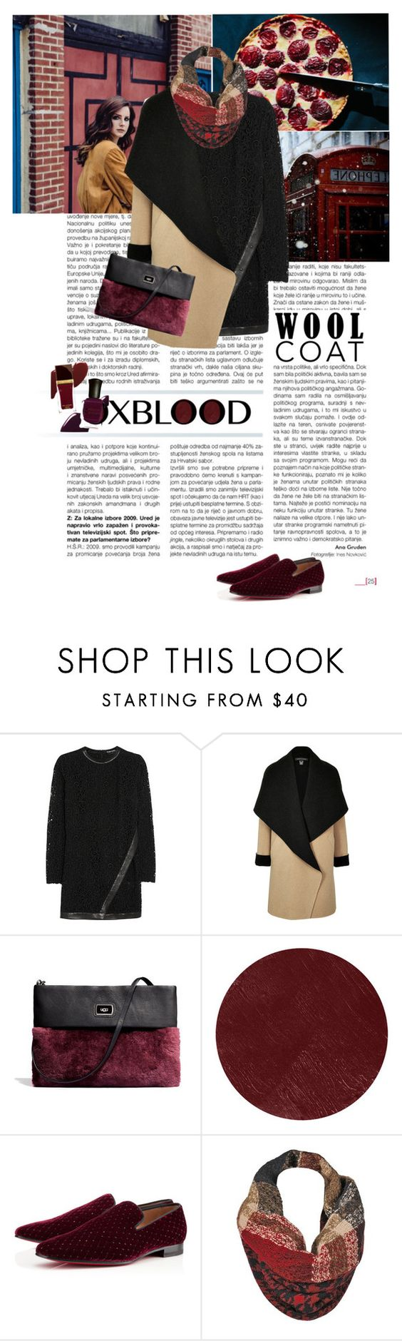 """""""Getting darker and darker"""" by elberethgilthoniel ❤ liked on Polyvore featuring Tom Ford, Ralph Lauren Black Label, UGG Australia, Burberry, Christian Louboutin and Black Rivet"""