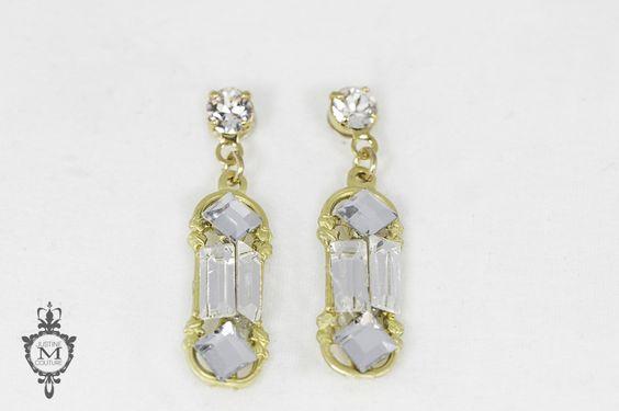 Justine M. Couture Georgiana Earrings - Blush Bridal