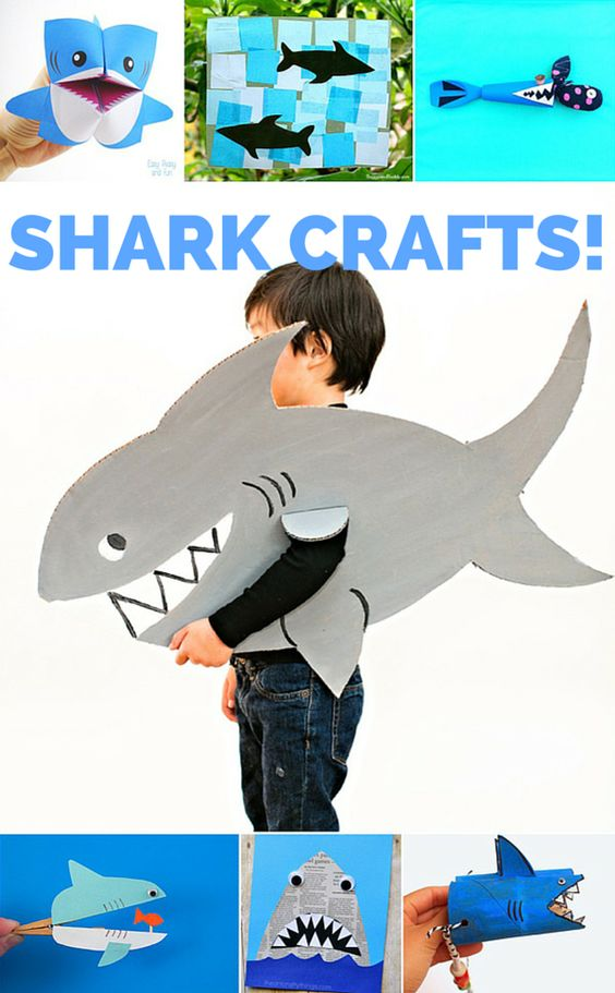 12 Ferociously Cute Shark Crafts for Kids. Celebrate Shark Week with these adorable ocean shark crafts!