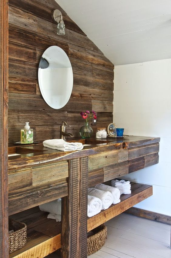 Vintage whites blog renovated rustic montana farmhouse for Rustic farmhouse bathroom ideas