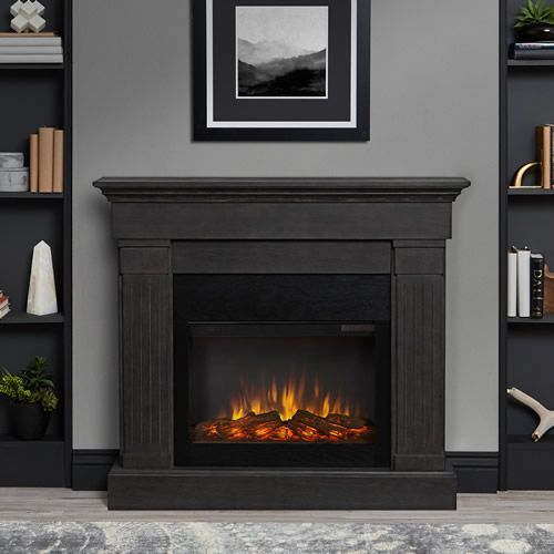 Real Flame Crawford Slim Electric Fireplace In Gray 8020e Gry Indoor Electric Fireplace Electric Fireplace Grey Fireplace