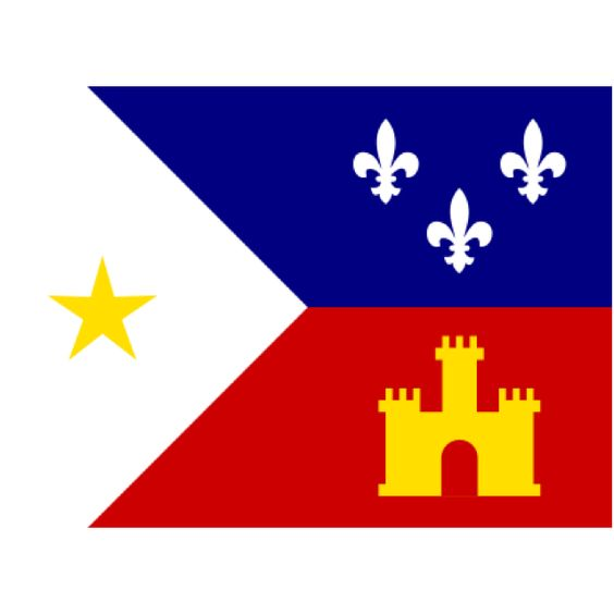 Drapeau Acadiana, Louisiane.