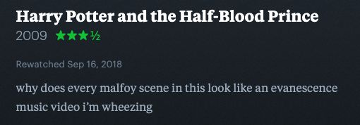 Harry Potter Letterboxd Reviews