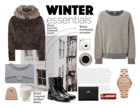 """Winter essentials"" by alohajoel ❤ liked on Polyvore featuring adidas Originals, Rochas, Pantone, Bunn, Yves Saint Laurent, Chanel, Marc by Marc Jacobs and Acne Studios"