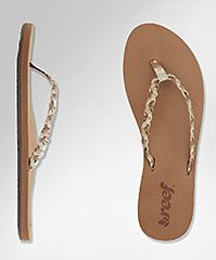 Reef Official Store, REEF TWISTED STARS, tan champagne, Girls : Sandals $32