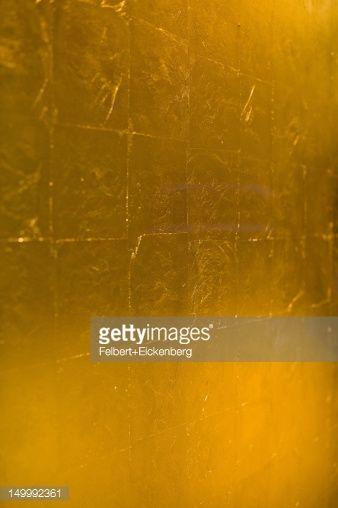 Stock Photo : Golden wall