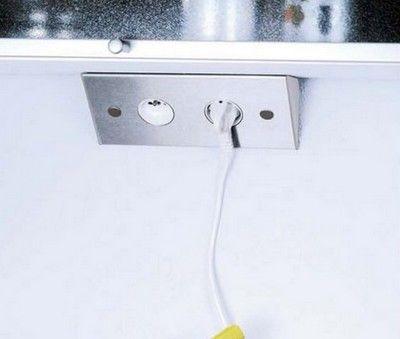 multiprise pour angle de plan de travail ou dessous de meuble haut msa9760jpg