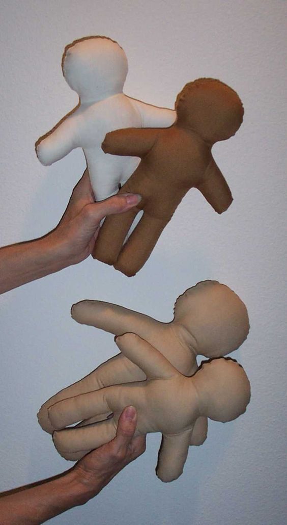 pattern for cloth doll   cloth dolls used to explain medical procedures to children; (c) cloth ...