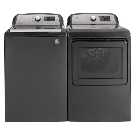 Ge Diamond Gray Laundry Pair 725 Electric In 2020 Gas Dryer