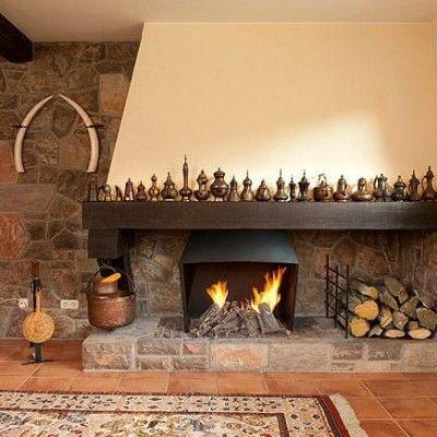 cómo decorar la chimenea