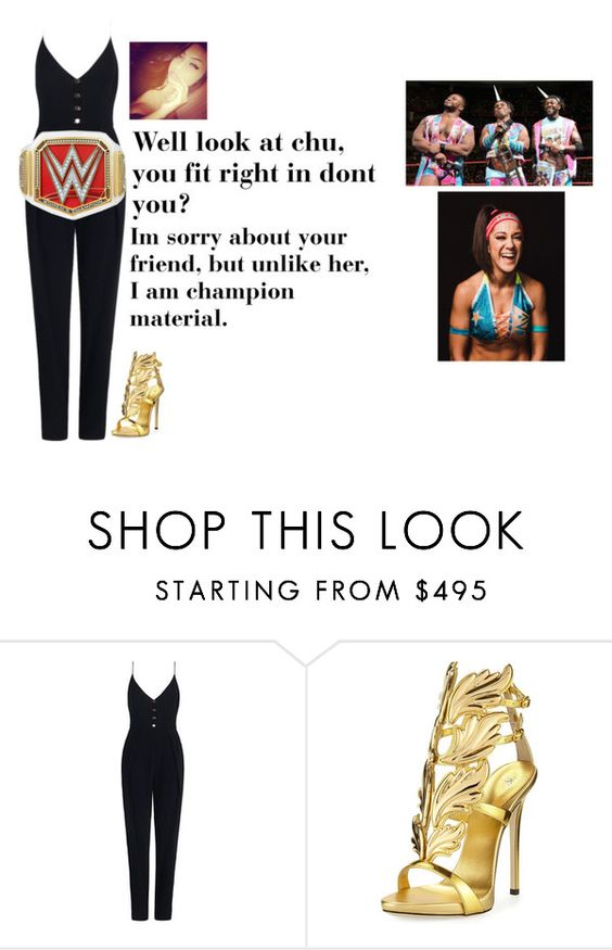 """Bobbi - Promo against The New Day and Bayley"" by lsd-and-halloweencandy ❤ liked on Polyvore featuring Zimmermann and Giuseppe Zanotti"