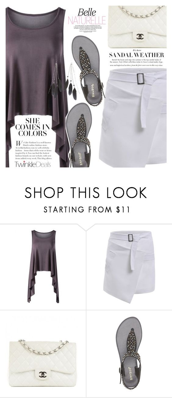"""""""Street Style"""" by vanjazivadinovic ❤ liked on Polyvore featuring Chanel, Bamboo, Charlotte Russe, polyvoreeditorial, Poyvore and twinkledeals"""