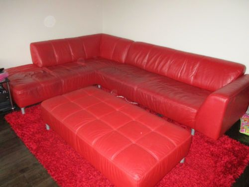 Red-Leather-Lounge-Suite-with-Chaise-Ottoman