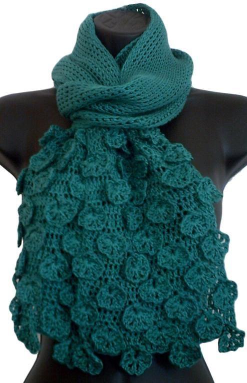 fleurette scarf crochet ideas free crochet