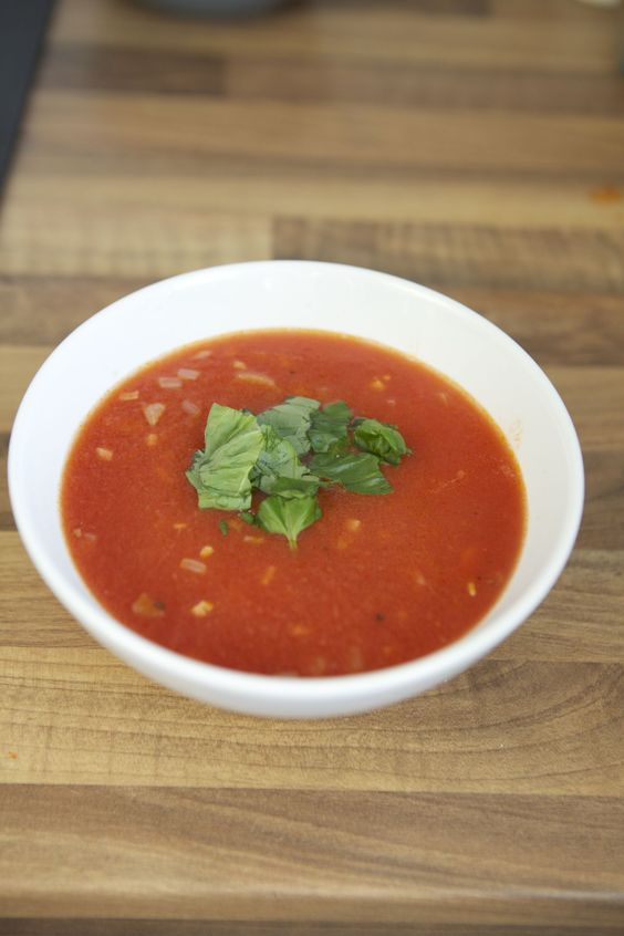 basic tomato soup :)  One of my favourites, especially to detox! Helps with weightloss and clear skin.