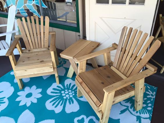 Hot deal! $149.99- Reclaimed cedar 3 piece outdoor set. Unfinished and ready for paint or stain! #donwillisfurniture