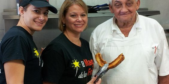 Fritas Chicharrones Beer and a Smiling Happy Staff Need you anything more?