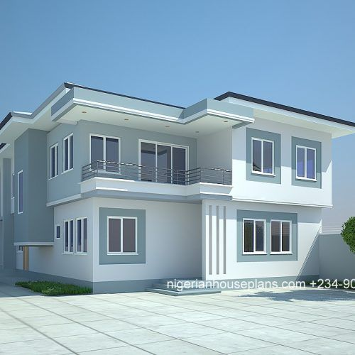 4 Bedroom Bungalow Ref 4012 Nigerianhouseplans Flat Roof House Designs Bungalow House Design Modern Bungalow House