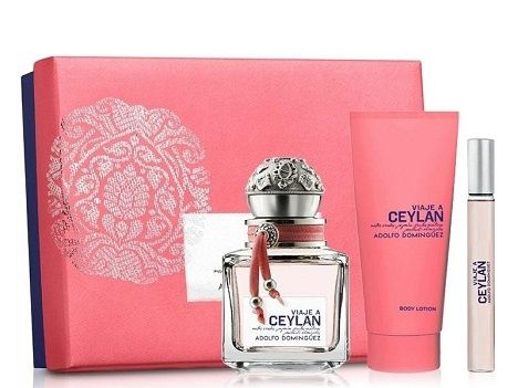 Coffret EDT VIAJE A CEYLAN by ADOLFO DOMINGUEZ Body Lotion and mini perfume