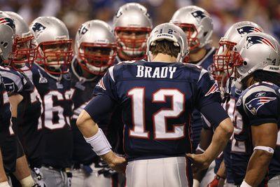 New York Giants and New England Patriots - Super Bowl XLVI - February 5, 2012: Tom Brady