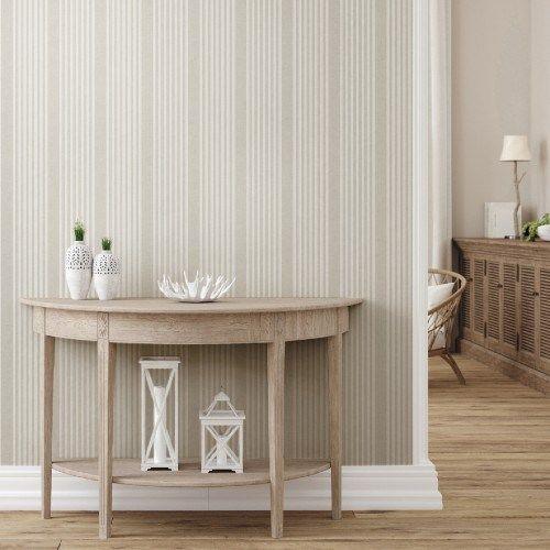 French Linen Stripe Peel And Stick Wallpaper Lelands Wallpaper