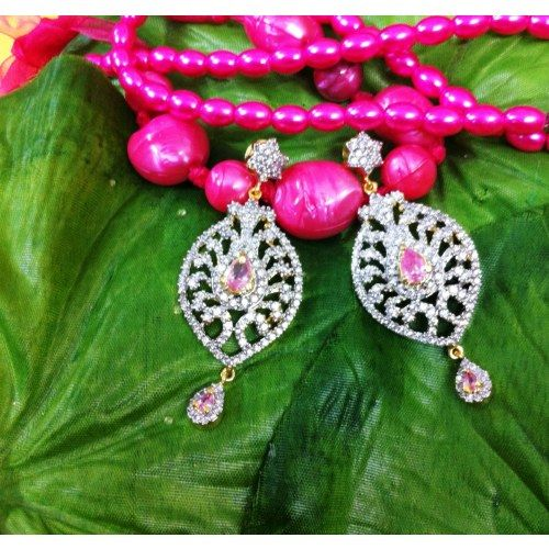 Pink delight ad earrings - Online Shopping for Earrings by Awesome Jewellery
