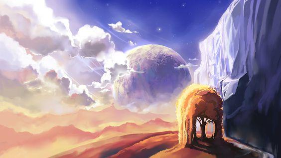 Fantasy Landscape by Chibionpu.deviantart.com on @DeviantArt